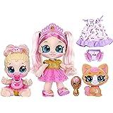 "Kindi Kids Scented Sisters Pawsome Royal Family - Pre-School 10"" Play Doll: Tiara Sparkles, 6.5"" Baby Kindi: Teenie Tiara, an"