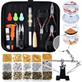 Paxcoo Jewelry Making Supplies Wire Wrapping Kit with Jewelry Beading Tools, Jewelry Wire, Helping Hands and Jewelry Findings