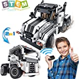 STEM Building Toys for Boys & Girls | 2 in 1 Remote Control Building Kit | Build a Semi -Truck/Cab Over | Early Learning Tec