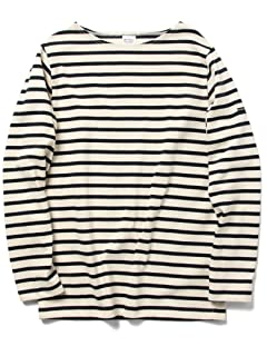 Boatneck Shirt 51-14-0137-012: Ecru / Navy