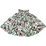 DFギャラリー パウスカート フラダンス衣装 シングル ハワイアン 5本ゴム 花柄 JA90704