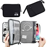 Double Layer Electronic Accessories Organizer, Travel Gadget Bag for Cables, USB Flash Drive, Plug and More, Perfect Size Fit