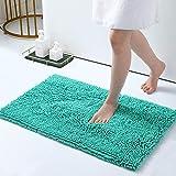 Smiry Luxury Chenille Bath Rug, Extra Soft and Absorbent Shaggy Bathroom Mat Rugs, Machine Washable, Non-Slip Plush Carpet Ru