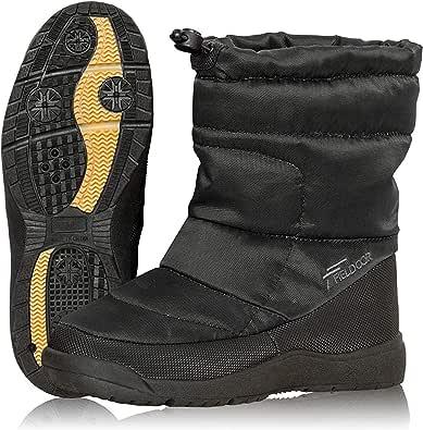 [フィールドア] スノーブーツ 軽量 暖か ダウン入り ボア素材 ドローコード調整 防水 撥水 雪 雨 防寒