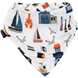 Bebe au Lait Nautical Oh-So-Soft Muslin Bandana Bib, Blue, One Size