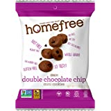 Homefree Treats You Can Trust Gluten Free Double Chocolate Chip Mini Cookie, 0.95oz Single Serve Bag, 64 Count