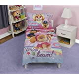 Paw Patrol Skye We're A Team 4-Piece Toddler Bedding Set - Includes Quilted Comforter, Fitted Sheet, Top Sheet, and Pillow Ca