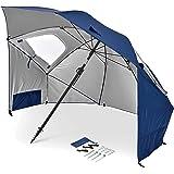 Sport-Brella Premiere UPF 50+ 傘シェルター 太陽と雨から保護 (8フィート)