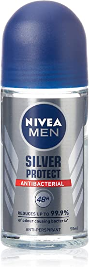 NIVEA MEN Silver Protect Roll On Anti-Perspirant Deodorant, 50ml