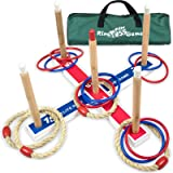 Elite Sportz Ring Toss Games for Kids - Indoor Holiday Fun or Outdoor Yard Game for Adults & Family - Easy to Set Up with Com