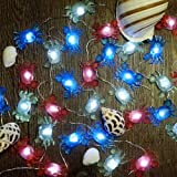 Impress Life Marina Theme Decorative Lights String, Fairy Big Crab Battery-Powered on Flexible Wire 10 ft 30 LEDs with Dimmab