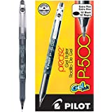 Pilot Precise P-500 Gel Ink Rolling Ball Pens Extra Fine Point Black Ink Dozen Box (38600) Patented Precision Point Technolog
