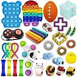 35 Pcs Fidget Toys Set, Sensory Fidget Toys Pack, Fidget Toys Set Sensory Fidget Toys for Kids Adults,Stress Relief and Anti-