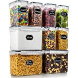 Wildone Food Storage Containers Set of 9 - Airtight Cereal & Dry Food Storage Containers for for Flour, Sugar, Baking Supplie