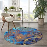LEEVAN Accent Rug Modern No-Shedding Non-Slip Machine Washable Bath Mat Rectangle Living Room Bedroom Bathroom Kitchen Soft F