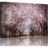 NAN Wind 1 Piece Modern Cherry Blossom Trees Large Wall Art Canvas Picture Artwork Landscape Wall Decor Wall Art Canvas Home