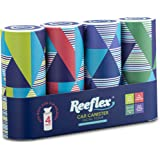 Reeflex Car Tissues (4 Canisters/200 Tissues) - Disposable Facial Tissues Boxed in Canisters with Perfect Cup Holder Fit | Qu