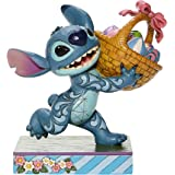 """Jim Shore Disney Traditions 6008075 Stitch Running W/ Easter Basket 5.75"""" H"""