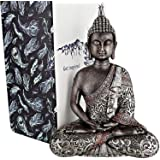 """25DOL Buddha Statue 7,3"""" Height in Meditation Pose for Home Decoration, Feng Shui Decor, Made with Natural Stone and Durable"""