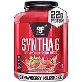 BSN SYNTHA-6 Protein Powder, Whey Protein, Micellar Casein, Milk Protein Isolate, Flavor: Strawberry Milkshake, 48 Servings