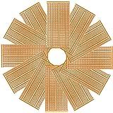 YUNGUI 12Pcs 50X100mm Universal Single-Sided PCB Prototype Stripboard Solderable DIY Circuit Boards
