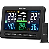 RISEPRO Wireless Weather Station with Outdoor Remote Sensor in/Out Temperature and Humidity Alarm Clock Calendar Weather Fore