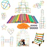 Tebrcon 新感覚チューブ式 ブロック 子供 積み木 知育玩具 セット 物作りやアクティビティにも使える 男の子 女の子 誕生日のプレゼント 組み立て DIY 立体パズル