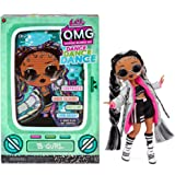 LOL Surprise OMG Dance Dance Dance B-Gurl Fashion Doll with 15 Surprises Including Magic Black Light, Shoes, Hair Brush, Doll