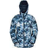 Mountain Warehouse Seasons Womens Printed Padded Jacket - Water Resistant, Lightweight Microfibre, Elastic Cuffs, Hood & Two