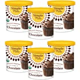 Simple Mills Organic Chocolate Frosting with Coconut Oil, Birthday Cake Frosting, Made with whole foods, 6 Count (Packaging M