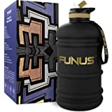 FUNUS Big Water Bottle 2.2L BPA Free Half Gallon Water Bottle Hydro Jug Reusable Water Bottle for Men Women Fitness Sport Gym