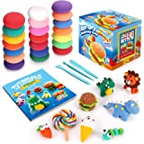 Sago Brothers Air Dry Clay, 24 Colors Modeling Clay for Kids, Molding Magic Clay for Slime add ins & Slime Supplies, Kids Gif