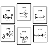 Inspirational Wall Art - Motivational Wall Art - Office & Bedroom Wall Decor - Positive Quotes & Sayings - Daily Affirmations