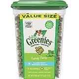 Feline Greenies Adult Dental Cat Treats, Catnip Flavor, 9.75 oz. Tub