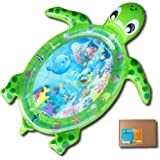 Fun N Well Inflatable Tummy Time Water Play Mat | Large & Cute Turtle Design | Non-Leak & Child-Safe | Fun & Stimulating Baby