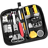 Ohuhu 174 PCS Watch Repair Tool Kit, Case Opener Spring Bar Watch Band Link Tool Set With Carrying Bag, Replace Watch Battery
