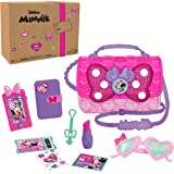 Disney Junior Minnie Mouse Bowfabulous Bag Set, 9 Piece Pretend Play Purse with Lights and Sounds Cell Phone, Sunglasses, and