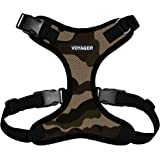 Voyager Step-In Lock Pet Harness – All Weather Mesh, Adjustable Step In Harness for Cats and Dogs by Best Pet Supplies - Army