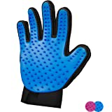 Zenify Pet Hair Remover Dog Grooming Glove Cat Brush Fur Removal Groomer Supplies for Short Haired Cats Puppy Dogs Horses Rab