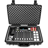 Casematix Waterproof Carry Case Fits Rode Rodecaster Pro Podcast Production Studio and Adapter - Hard Carry Case With Padded