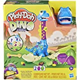 Play-Doh - Dino Crew Growin' Tall Bronto - Toy Dinosaur for Boys and Girls with 2 PlayDoh Eggs (70g of Non-Toxic Dough Each)