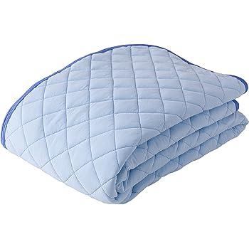 mofua natural 敷きパッド 綿100% 涼感 ICECOTTON シングル ブルー 51260102