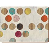"Creative Tops Retro Spot Premium 6-Piece Set of Cork-Backed Placemats by, 30 x 22.8 cm (11¾"" x 9"")"