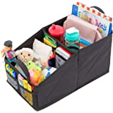 Lusso Gear Car Seat Organizer for Front or Backseat - Great for Adults & Kids, Features 9 Storage Compartments for Toys, Maga