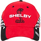 Shelby Snake Red Checkered Race Cap Hat | Officialy Licensed Shelby Product | Adjustable, One-Size Fits All