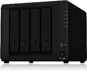 【NASキット】Synology DiskStation DS918+ [4ベイ /  クアッドコアCPU搭載 / 4GBメモリ搭載] 高性能4ベイNAS