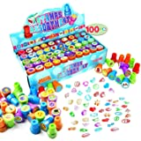 100 Pieces Assorted Stamps for Kids Self-ink Stamps (50 DIFFERENT Designs, Emoji Stampers, Dinosaur Stampers, Zoo Safari Stam