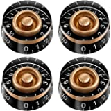 Speed Control Knob With White Word For Electric Guitar 4Pcs