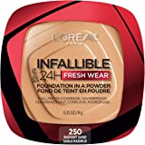L'Oreal Paris Infallible Fresh Wear Foundation in a Powder, Up to 24H Wear, Radiant Sand, 0.31 oz.