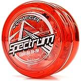 Yomega Spectrum: Fireball Transaxle YoYo、中級、上級、プロレベル用、予備用ストリングス2本入り、3か月の保証付き、LEDライト内蔵 (レッド)
